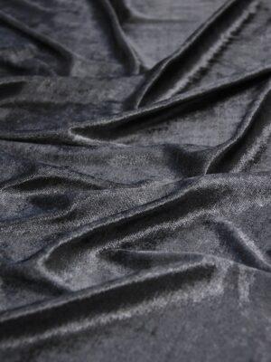 Бархат стрейч оттенок графит (5885) - Фото 11