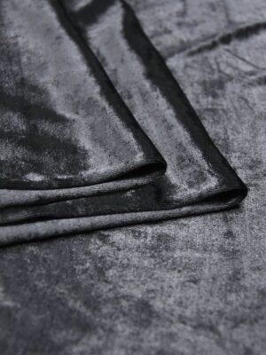 Бархат стрейч оттенок графит (5885) - Фото 12