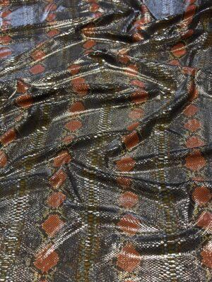 Кожа питона на трикотажной основе блестящая (5931) - Фото 13