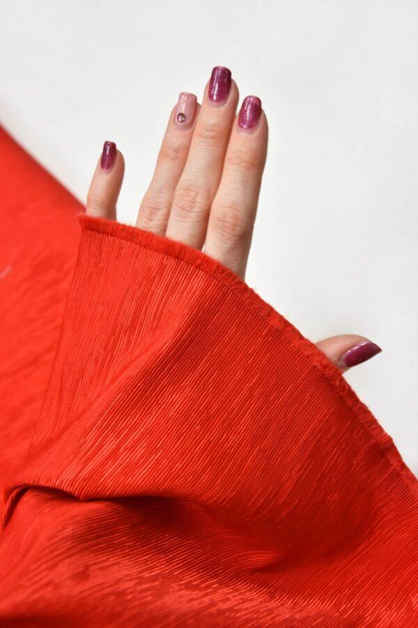 Репс ярко-красный фактурный с блеском (5950) - Фото 11