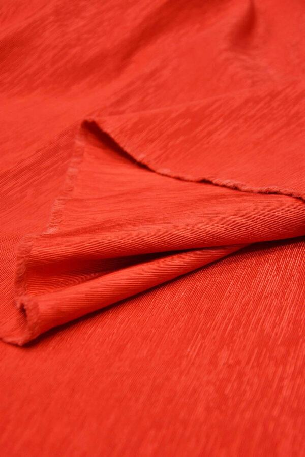 Репс ярко-красный фактурный с блеском (5950) - Фото 9