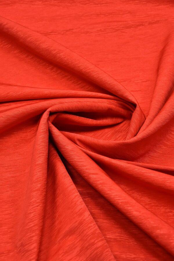 Репс ярко-красный фактурный с блеском (5950) - Фото 7