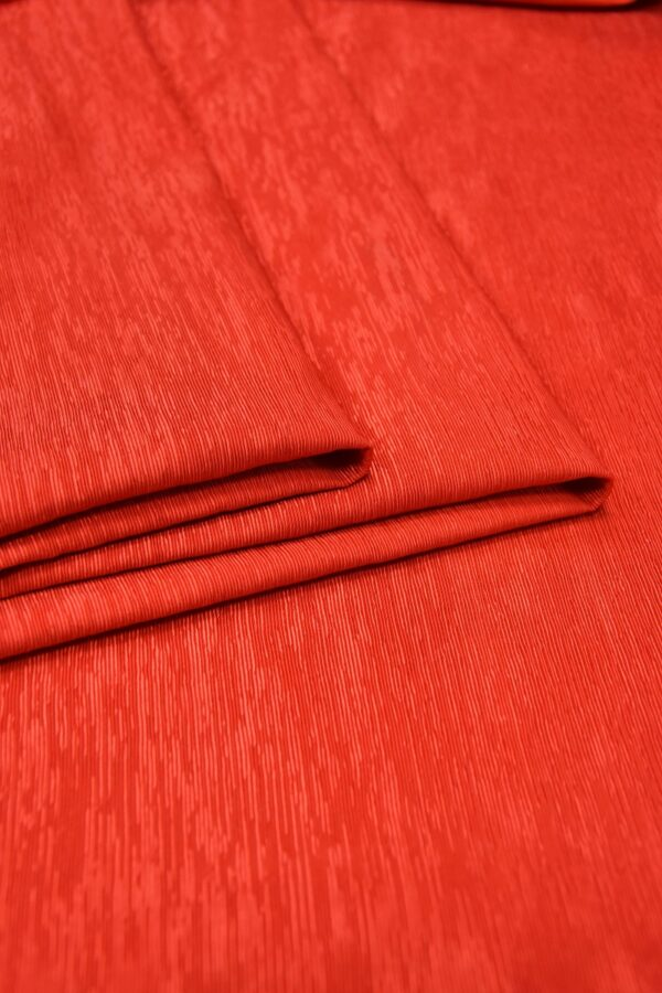 Репс ярко-красный фактурный с блеском (5950) - Фото 8