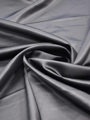 Атлас дюшес серый графит костюмный (5974) - Фото 14