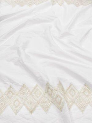 Хлопок с вышивкой кайма из ромбов по кромкам (5976) - Фото 13