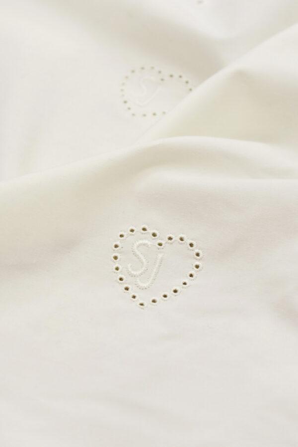 Хлопок с вышивкой молочный фон сердечки (5977) - Фото 9