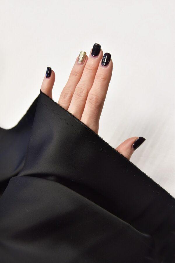 Ватуссо атлас костюмный черный стрейч (5990) - Фото 10