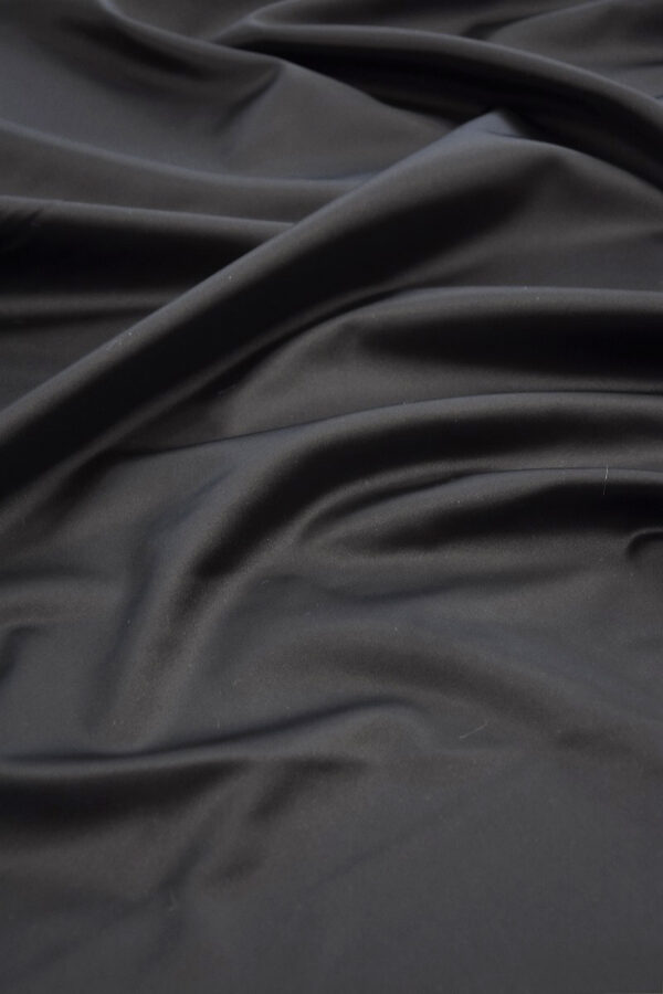 Ватуссо атлас костюмный черный стрейч (5990) - Фото 6