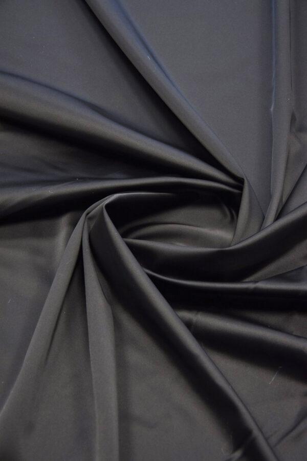 Ватуссо атлас костюмный черный стрейч (5990) - Фото 7