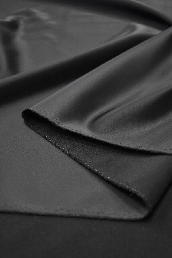 Ватуссо атлас костюмный черный стрейч (5990) - Фото 9