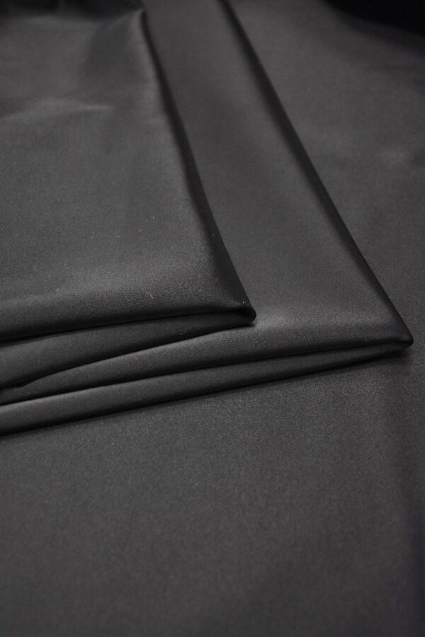 Ватуссо атлас костюмный черный стрейч (5990) - Фото 8