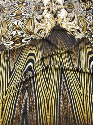 Джерси punto milano купон черный с абстрактным узором (6014) - Фото 13