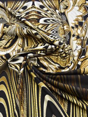 Джерси punto milano купон черный с абстрактным узором (6014) - Фото 14