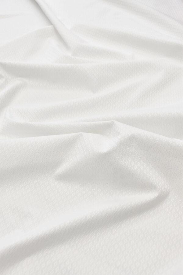 Пике стрейч белый в ромбик (6020) - Фото 6