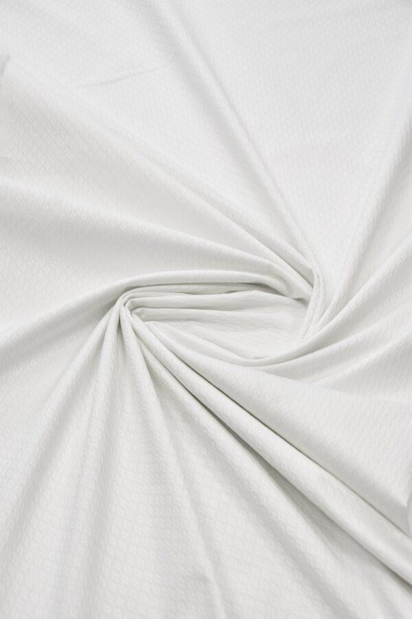 Пике стрейч белый в ромбик (6020) - Фото 8