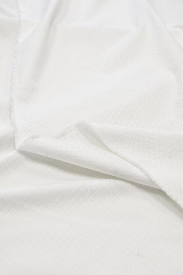 Пике стрейч белый в ромбик (6020) - Фото 9