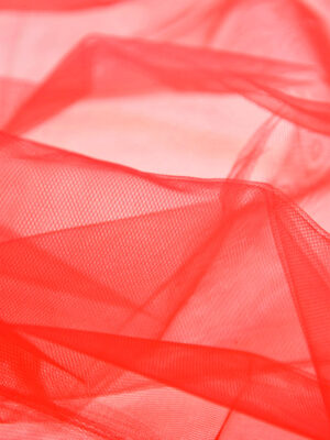 Фатин сетка красный (6035, 2227) - Фото 19