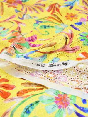 Шитье хлопок желтый с цветами (6075) - Фото 15