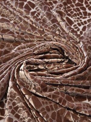 Бархат Деворе оттенок какао с мозаикой (6160) - Фото 13