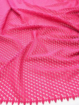 Кружево макраме фуксия с геометрическим узором (6268) - Фото 11