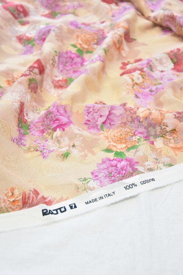 Батист вышивка филькупе кремовый с цветами (6272) - Фото 8