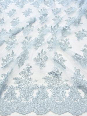 Кружево сутажное голубая пастель с фестонами (6288) - Фото 13