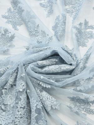 Кружево сутажное голубая пастель с фестонами (6288) - Фото 14
