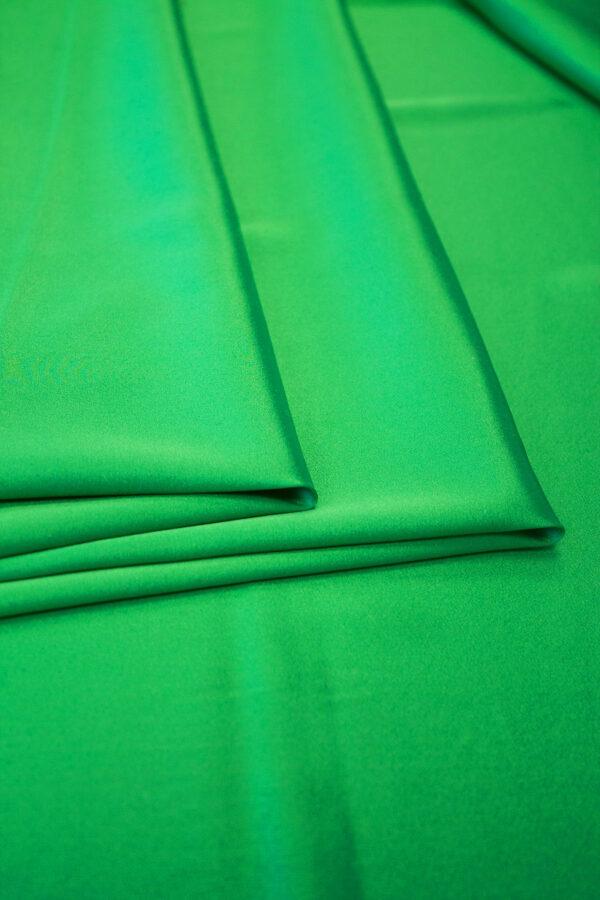 Шелк стрейч атласный зеленый (6314) - Фото 8