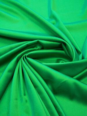 Шелк стрейч атласный зеленый (6314) - Фото 13