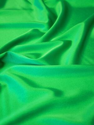 Шелк стрейч атласный зеленый (6314) - Фото 12