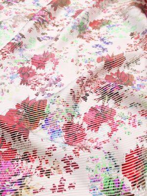 Органза в полоску с красными цветами (6330) - Фото 13