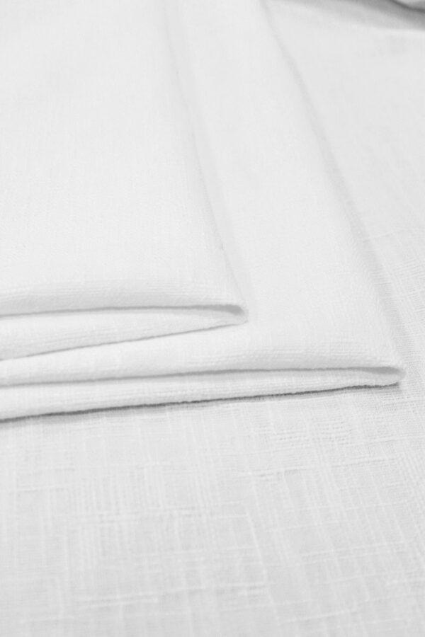 Рогожка летняя белая фактурная (6390) - Фото 8