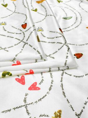 Атлас стрейч бабочки и надписи на белом (6418) - Фото 18