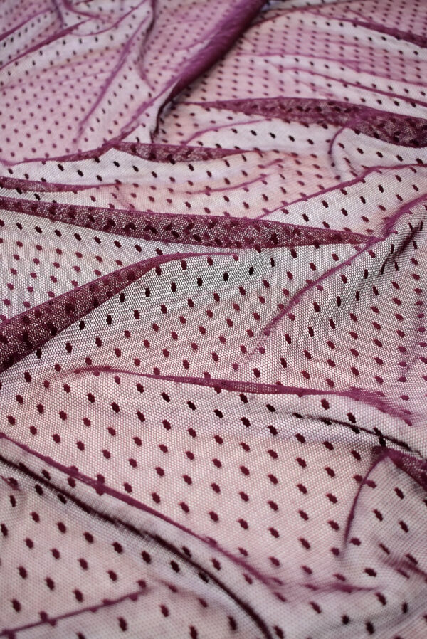 Сетка бордовый оттенок в горошек (6434) - Фото 6