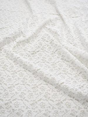 Кружево белое с цветочным узором (6452) - Фото 14