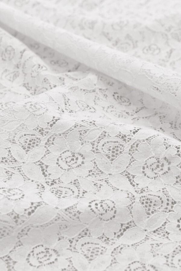 Кружево белое с цветочным узором (6452) - Фото 9