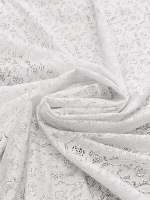 Кружево белое с цветочным узором (6452) - Фото 15