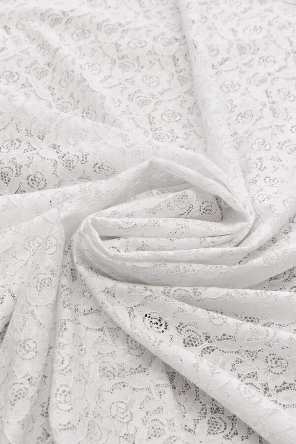 Кружево белое с цветочным узором (6452) - Фото 7