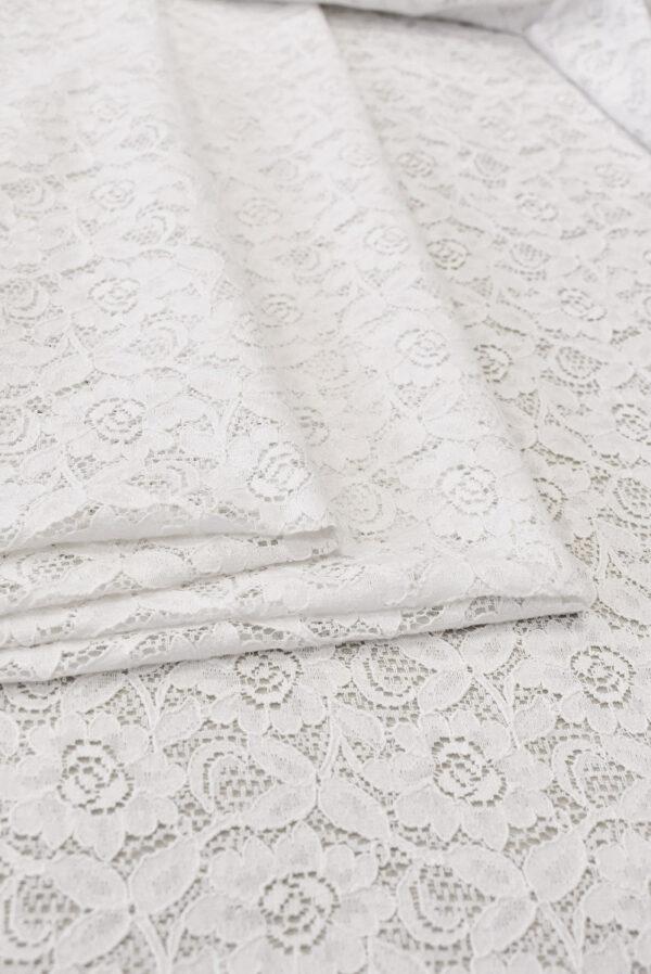 Кружево белое с цветочным узором (6452) - Фото 8