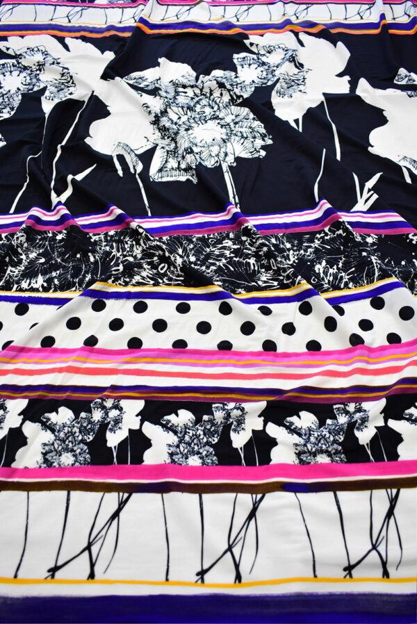 Трикотаж холодная вискоза купон цветы горох геометрия (6455) - Фото 6