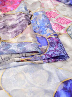 Шелк деворе яйца фаберже в голубых и розовых оттенках (6475) - Фото 17