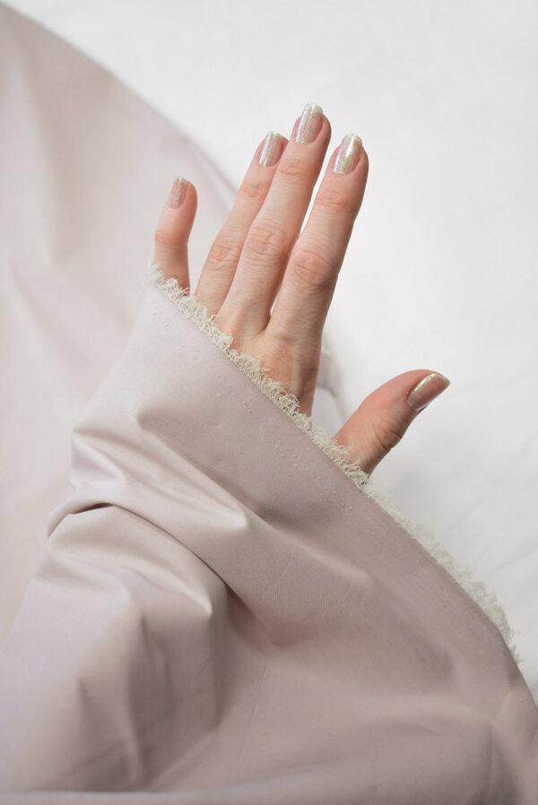 Хлопок стрейч рубашечный пудрового оттенка (6501) - Фото 10
