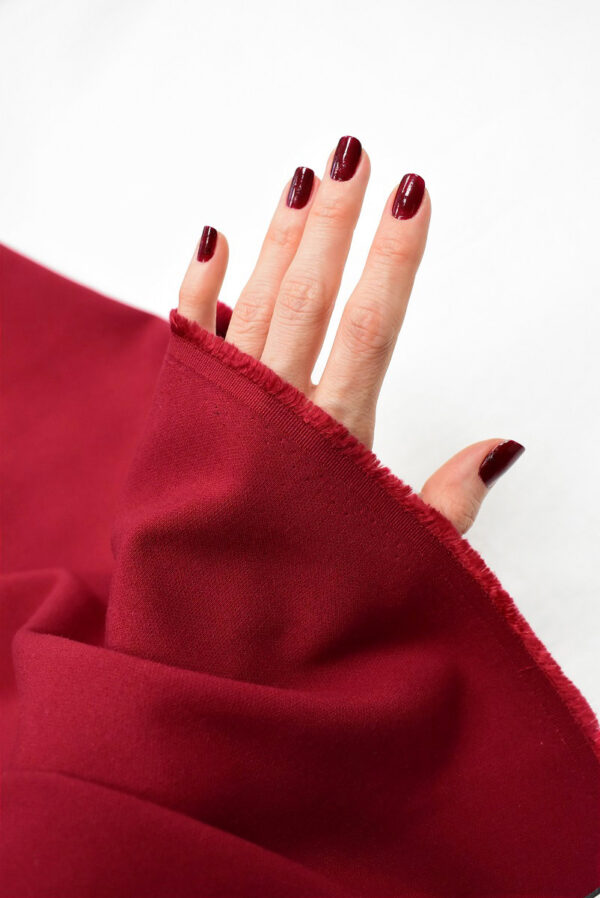 Дабл креп бордовый оттенок (6628) - Фото 9