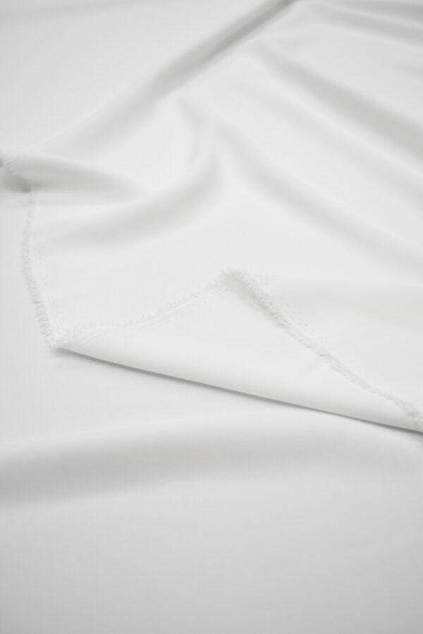 Креп плательный плотный белый (6723) - Фото 8