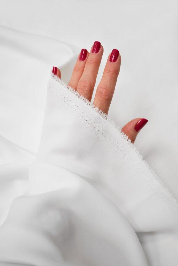 Креп плательный плотный белый (6723) - Фото 10