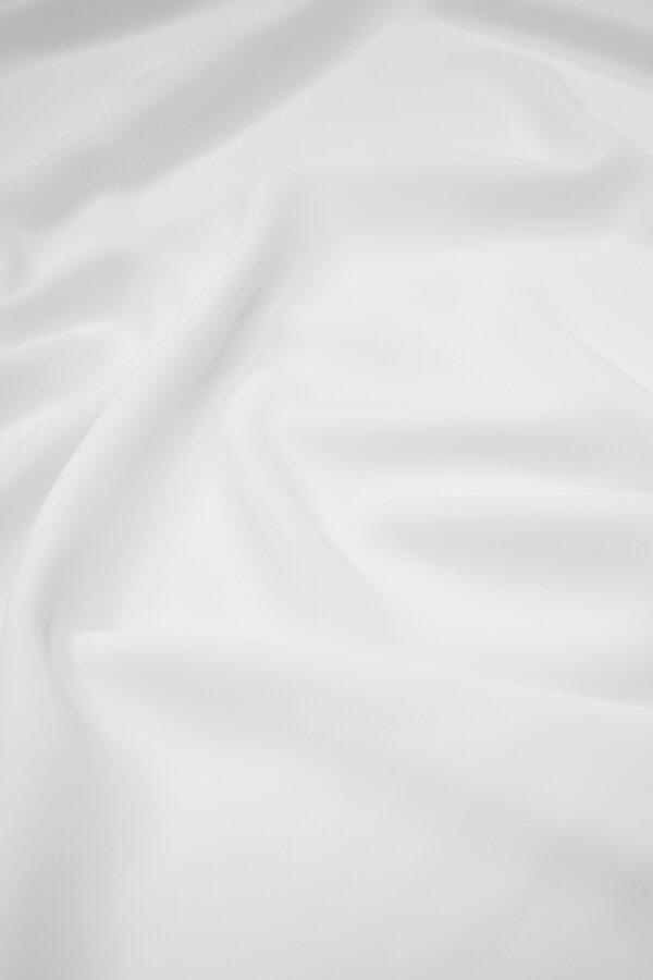 Креп плательный плотный белый (6723) - Фото 6