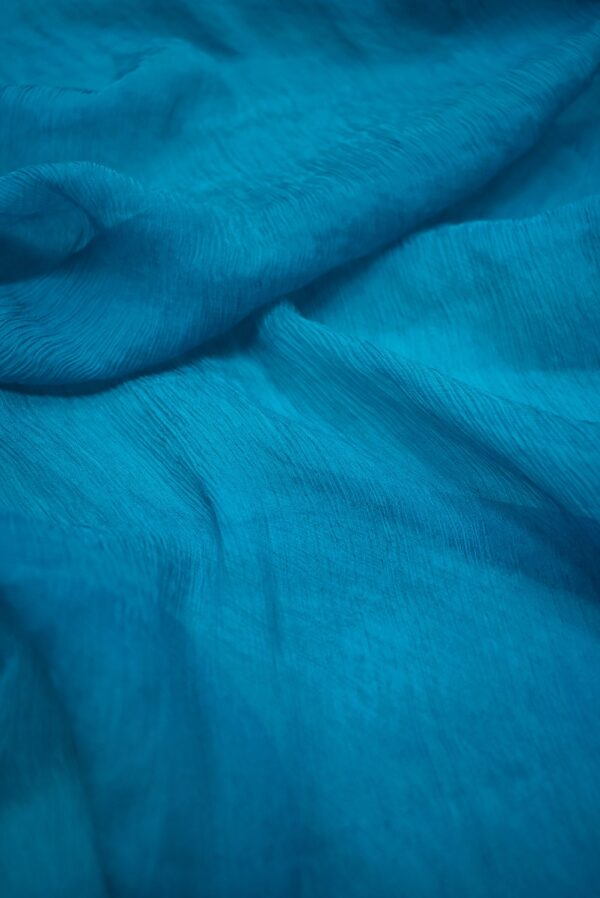 Шифон шелк креш цвет морской волны (6728) - Фото 9