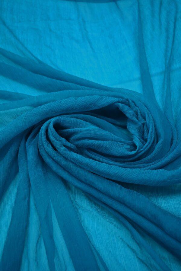 Шифон шелк креш цвет морской волны (6728) - Фото 8