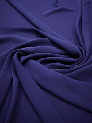 Креп плательный плотный темно-синий (6738) - Фото 15