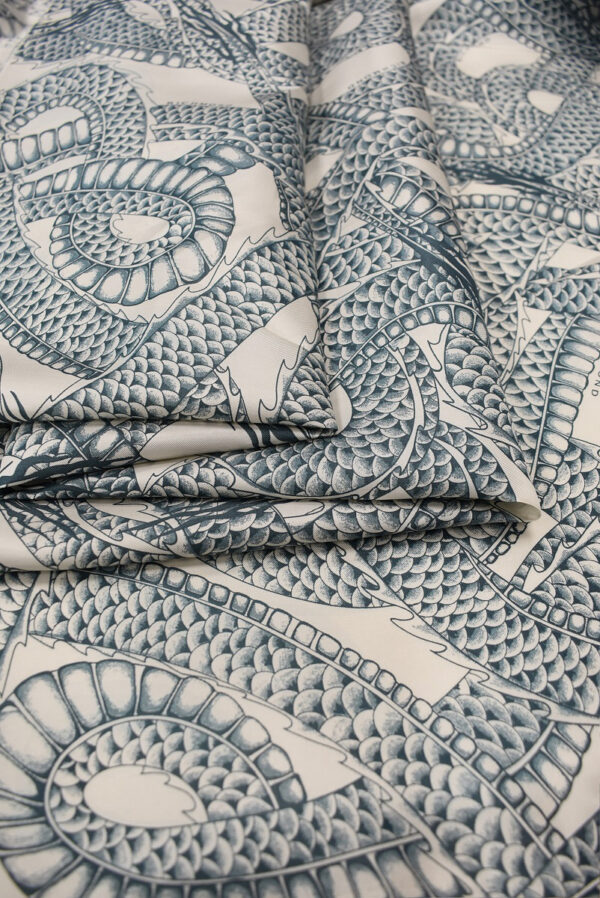 Подклад вискоза змеи на светлом фоне (6740) - Фото 8